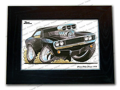 FAST AND THE FURIOUS Dodge Charger Movie Koolart Quality Glass Framed Picture