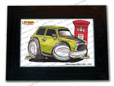 MR BEAN MINI Classic Movie TV Series Car Koolart Quality Glass Framed Picture