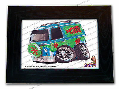 SCOOBY DOO MYSTERY MACHINE TV Series Car Koolart Quality Glass Framed Picture