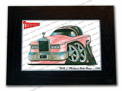 THUNDERBIRDS FAB 1 Classic TV Series Car Koolart Quality Glass Framed Picture