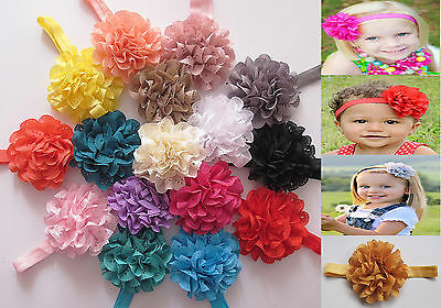 Baby Girls Flower Hairband Soft Elastic Headband Hair Accessories Band
