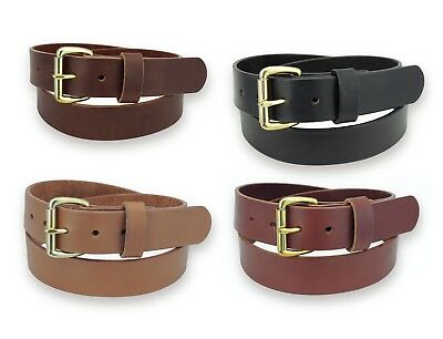 CHESTNUT BRIDLE LEATHER Belt/Brass Buckle / 1 5