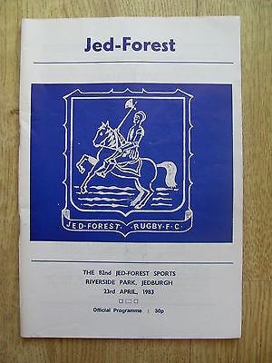 Jed-Forest Sevens 1983 Rugby Programme