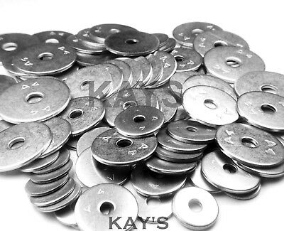 A4 Marine Grade Stainless Steel Penny/Repair Washers M4,M5,M6,M8,M10,M12