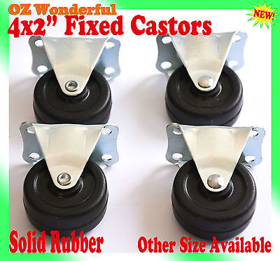 "4 pcs 2"" Fixed Castor Wheel 50mm Castors New Good Quality"