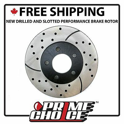 New FRONT DRIVERS SIDE Performance Drilled and Slotted Brake Rotor PR64012L