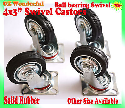 "4 pcs 3"" Swivel Castor Wheel 75mm Castors New Good Quality flat platform cart"