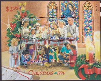 New Zealand 1994 Christmas Souvenir Sheet Mint Never Hinged