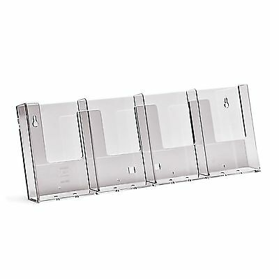 Taymar DL,1/3 A4 WALL MOUNTED, 4 POCKET BROCHURE HOLDER-  MENUS - 4W104