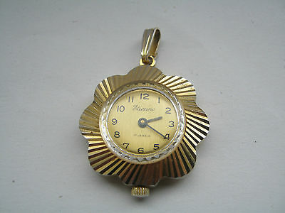 Vintage Swiss Made Etienne Wind Up 17 Jewel Necklace Watch