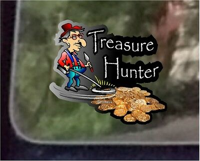 "ProSticker 505 (One)  4"" Treasure Hunter Decal Sticker Metal Detecting"