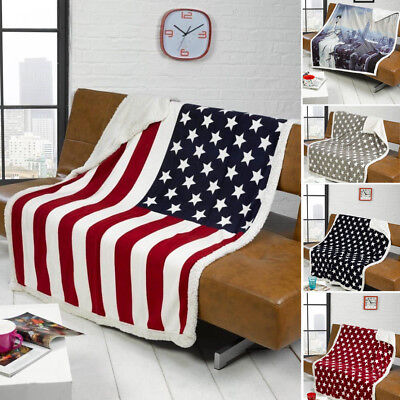 USA AMERICAN STARS Stripes New York Skyline Sofa Bed Fleece Classy Stars And Stripes Throw Blanket