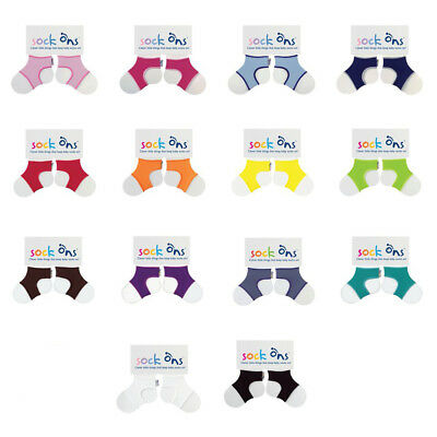 Sock Ons Sock Keepers Size 0-6 Months - Choose Your Colour - QUICK DISPATCH!