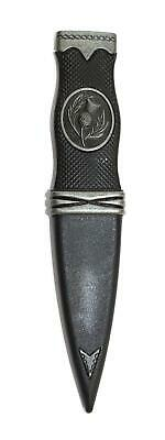 Simple Thistle Safety Sgian Dubh with Antique Chrome Detail