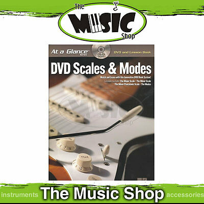 "New ""At A Glance DVD Guitar Scales & Modes""  Book & DVD Pack"