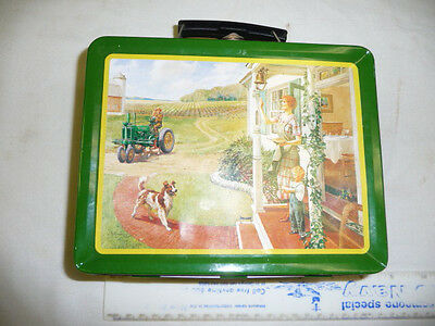 John Deere Retro 8x6x3 Lunch Box Dinner Supper Time Model G Tractor