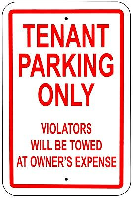 """No Parking Sign Private Property Unauthorized Towed 12""""x18"""" Aluminum"""