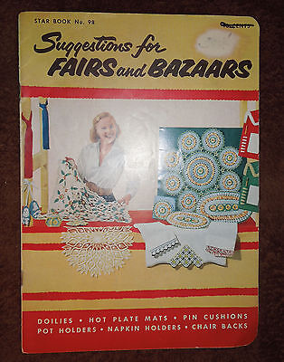 Vintage Gay & Gifty Pot Holders Directions Booklet c.1953 Fairs & Bazaars
