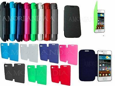 FLIP COVER custodie CASE PER SAMSUNG GALAXY S ADVANCE I9070 COLORI ULTRA SLIM