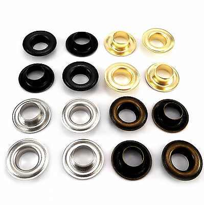 Eyelets, size 12 x 25 mm + washers, brass gromets different colors WASHABLE, ANG