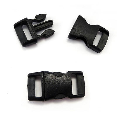 Plastic single adjusting side release buckles for 10 mm webbing, AIA