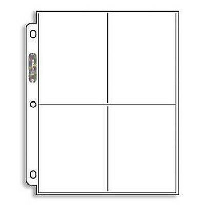 10 Ultra Pro 4 Pocket Postcard or Coupon Pages Sheets Holders
