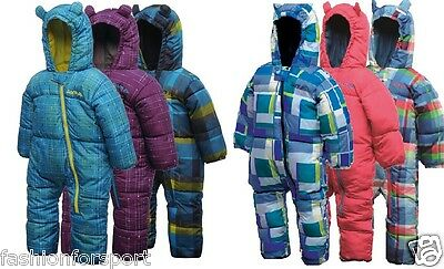 Dare2b Bugaloo Kids Babies Padded Snowsuit One Piece All-In-1 Age To 3-4 Years