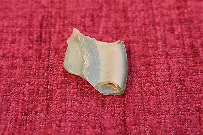 ANCIENT ROMAN GLASS  FRAGMENT !  3.3g  1 PIECE. #0109