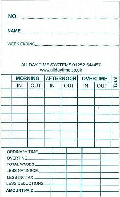 Clocking in Time Recorder Attendance Cards - 102115 / TB4000
