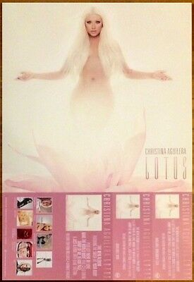 CHRISTINA AGUILERA Lotus Ltd Ed New RARE Poster Flat +FREE Pop/Rock Poster!