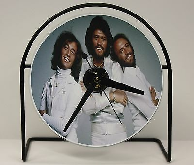 """Bee Gees Picture Cd Clock That Plays The Song """"stayin' Alive"""" Free Shipping"""