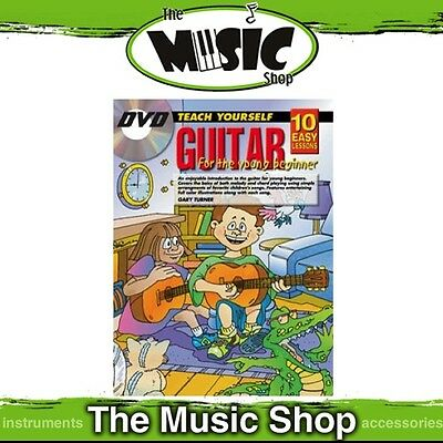 New 10 Easy Lessons Teach Yourself Guitar for Young Beginners Music Book & DVD