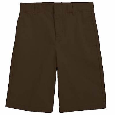 Boys Brown Short French Toast Flat Front School Uniform Sizes 4-20