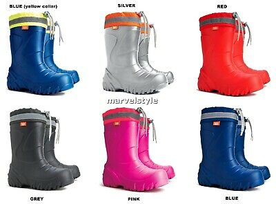 Kids Boys Girls Wellington Boots Rain Snow Boots EVA Lightweight Wellies UK 5-2