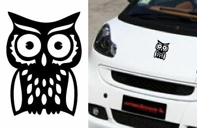 Vinyl sticker cut OWL high quality outdoor/indoor. BUHO duration > 10 years