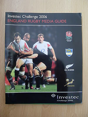 England 2006 Investec Challenge Rugby Media Guide