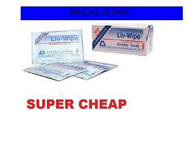 150 Units Livy sterile Alcohol Wipes Swab ,  USE BY OZY MEDICALS & HOSPITALS