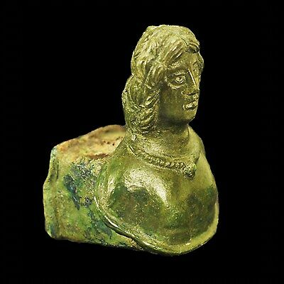 Aphrodite-Ancient Roman Bronze Chariot Fitting Bust Of Antinos