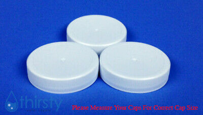 Replacement Water Bottle Caps 3 & 5 Gallon Screw On 48mm (Bag of 3) Aqua Jug USA