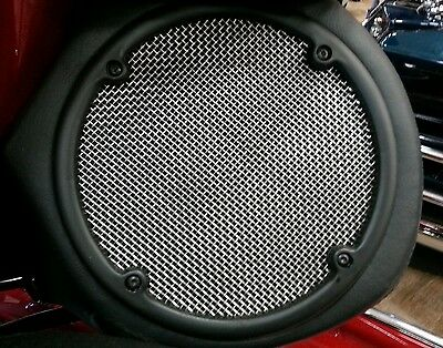 Rear Stainless Steel Speaker Grills Harley Davidson Touring Models Ultra Classic