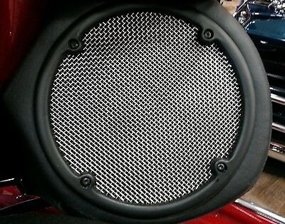 Rear Stainless Steel Speaker Grills Harley Touring Models Ultra Classic 98-2013