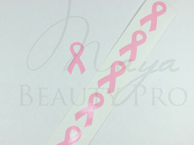 200 Tanning Tattoo Sticker PINK RIBBON Breast Cancer Support Ribbon