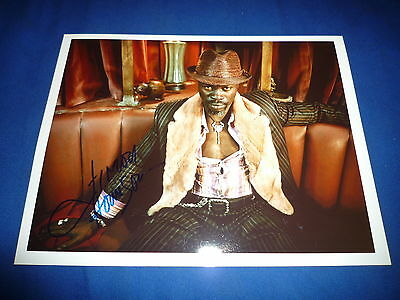DJIMON HOUNSOU  signed Autogramm 20x25 cm In Person GLADIATOR , BLOOD DIAMOND