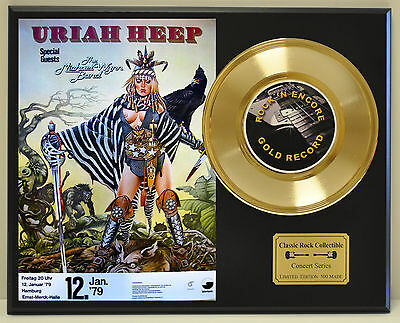 Uriah Heep Ltd Edition Concert Poster Series Gold 45 Display Ships Free