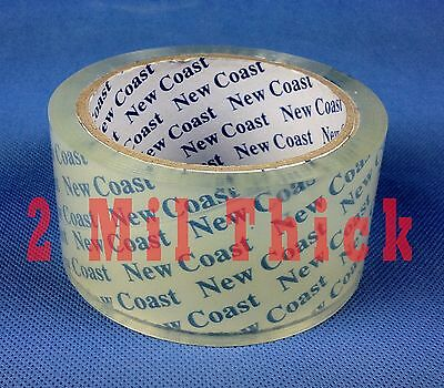 36 Rolls New Coast Clear Shipping Tape Sealing Packaging 2 Inch 55 Yard in Case