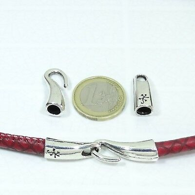 6 Set de Cierres Para Cuero 46x10mm  T163C  Clasps Armband Spange Cuir Leather