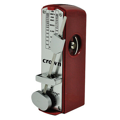 New Crown Mini Wind-Up Metronome (Red)