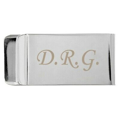 Personalised Silver Plated Money Clip, MoneyClip - Engraved Free- Wedding Favour