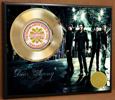 Breaking Benjamin Ltd Edition Poster Art Gold Record Display Free Shipping