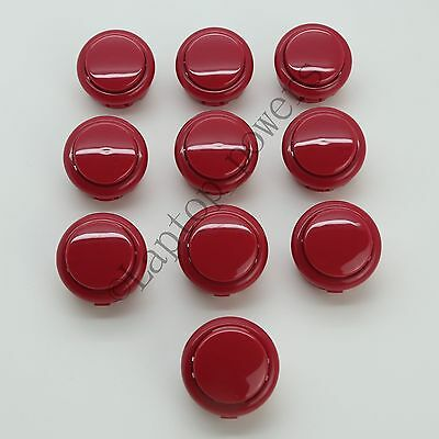 30mm Arcade Push Button Replace For Sanwa OBSF-30 Push Button RED FOR MAME DIY